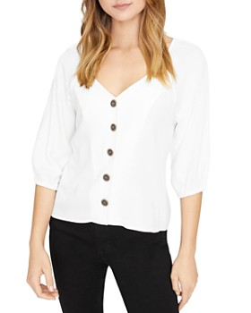 Sanctuary - Modern Button-Front Blouse