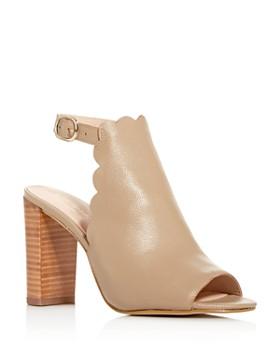 kate spade new york - Women's Olivia Scalloped Block-Heel Sandals