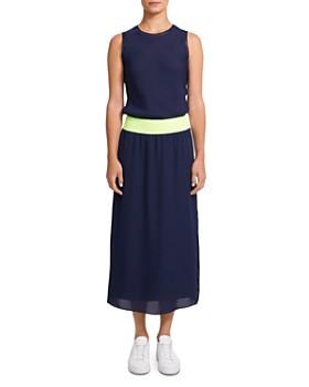 Theory - Lewie Silk-Blend Combo Dress