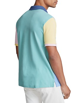 Polo Ralph Lauren - Color-Block Mesh Slim Fit Polo Shirt