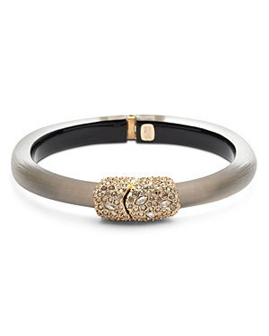 Alexis Bittar Encrusted Hinge Bangle Bracelet