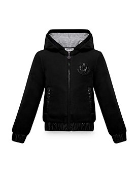 Moncler - Girls' Zip-Up Logo Hoodie - Big Kid