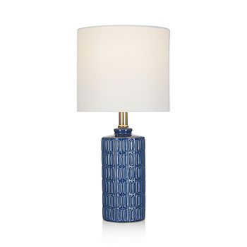 Cresswell - Blue Ceramic Accent Lamp 18""