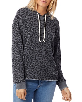 ALTERNATIVE - Day Off Leopard Print Hooded Sweatshirt