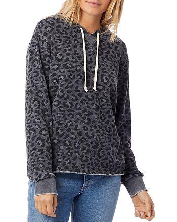 ALTERNATIVE - Day Off Leopard Print Hooded Sweatshirt