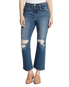 Ella Moss - Desctruted Cropped Flared Jeans in Jaxton