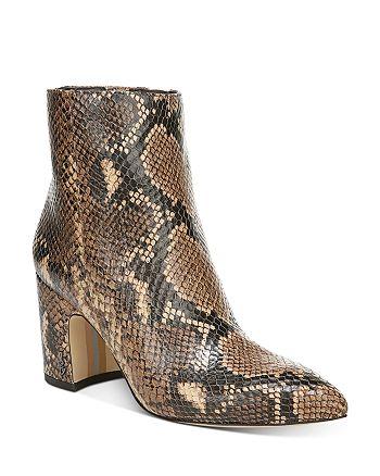 Sam Edelman - Women's Hilty Pointed Toe Block High-Heel Ankle Booties - 100% Exclusive