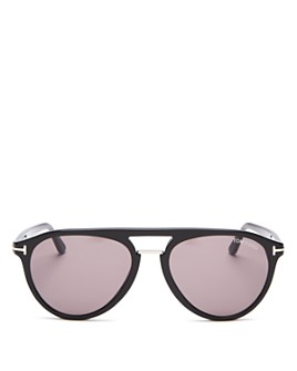 Tom Ford - Men's Burton Brow Bar Aviator Sunglasses, 56mm