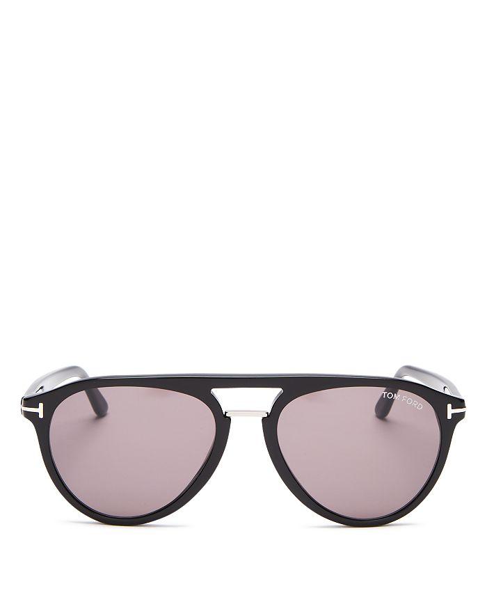 Tom Ford - Men's Burton Brow Bar Aviator Sunglasses, 56mm