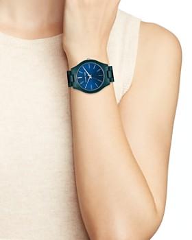 Michael Kors - Slim Runway Blue Link Bracelet Watch, 42mm