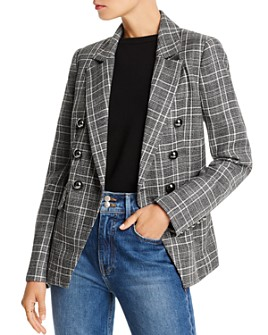 LINI - Evelyn Double-Breasted Plaid Blazer - 100% Exclusive