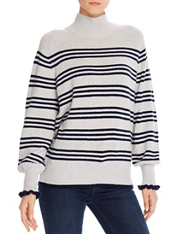 Rebecca Taylor - Striped Blouson-Sleeve Sweater - 100% Exclusive