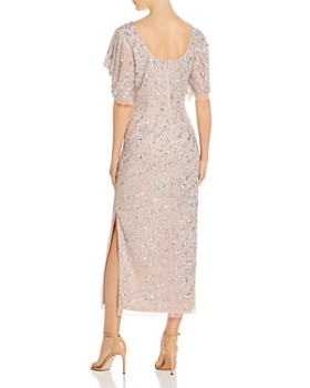 Adrianna Papell - Beaded Draped-Sleeve Gown