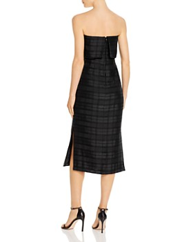 C/MEO Collective - Refresh Plaid Strapless Dress