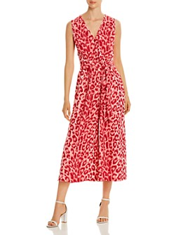 kate spade new york - Sleeveless Cropped Leopard-Print Jumpsuit