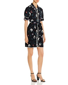 kate spade new york - Deco Bloom Short-Sleeve Shirt Dress