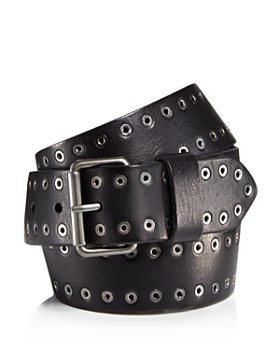 ALLSAINTS - Men's Eyelet Stud Leather Belt