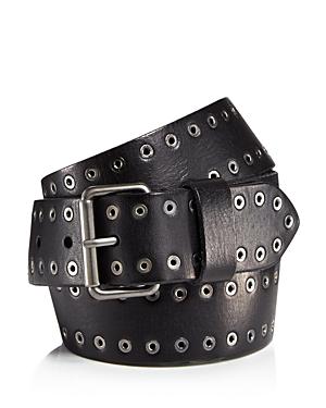 Allsaints Men's Eyelet Stud Leather Belt
