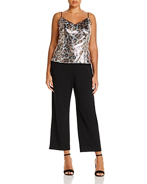 Adrianna Papell Plus Sequin Combo Jumpsuit