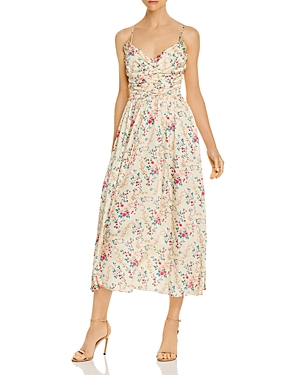 Jill Jill Stuart Ruched Floral Midi Dress