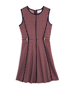 US Angels - Girls' Dotted Jacquard Dress - Big Kid