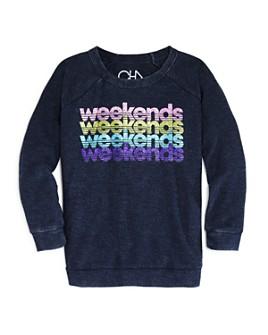 CHASER - Girls' Sparkle Weekends Sweatshirt - Big Kid
