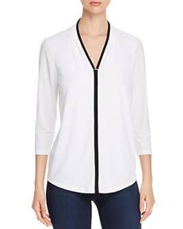 Calvin Klein - Piped-Trim Top