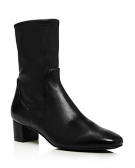 Stuart Weitzman - Women's Ernestine Mid-Calf Leather Boots