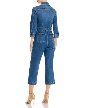 7 For All Mankind - Alexa Cropped Denim Jumpsuit