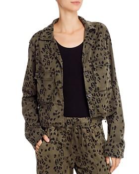 Bella Dahl - Leopard Print Cropped Military Jacket