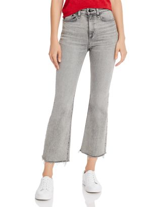 Nina High Rise Ankle Flare Jeans In Broderick by Rag & Bone