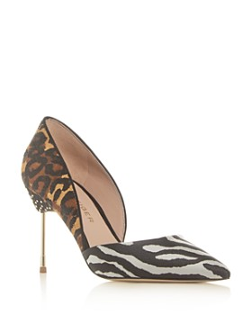Kurt Geiger - Women's Bond Leopard Print Calf Hair Pointed-Toe Pumps