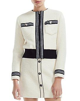 Maje - Boppy Cropped Tweed Jacket