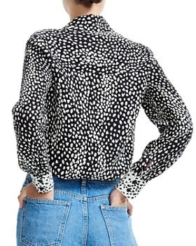 Maje - Cilia Color-Blocked Animal-Print Shirt