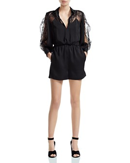 Maje - Ines Lace-Detail Romper