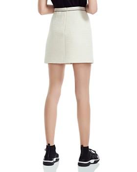 Maje - Joppy Decorative-Button Tweed Mini Skirt