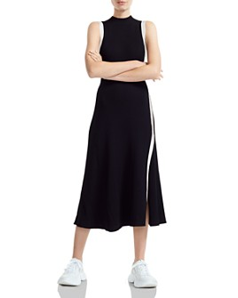 Maje - Rose Contrast-Trimmed Midi Dress