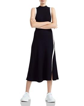 Maje - Rose Contrast-Trimmed Midi Dress