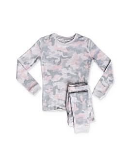 PJ Salvage - Girls' Camo Print Tee & Pants Pajama Set - Little Kid, Big Kid