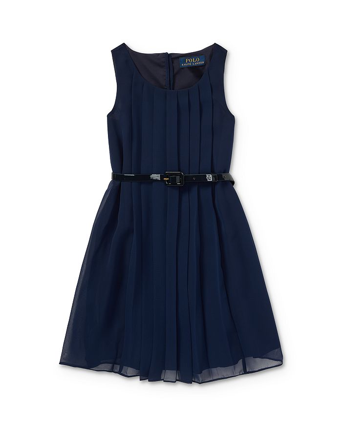 Ralph Lauren - Girls' Belted Shift Dress - Little Kid