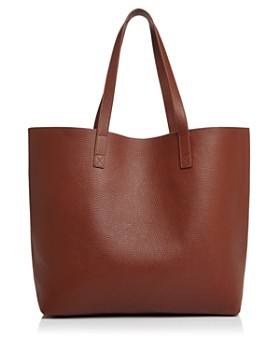 AQUA - Pebbled Leather Tote - 100% Exclusive