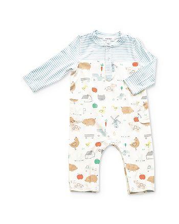 Angel Dear - Boy's Farm Print Romper - Baby