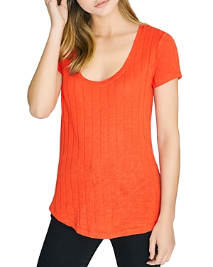 Sanctuary Tops RUBY RIBBED SCOOP-NECK TEE