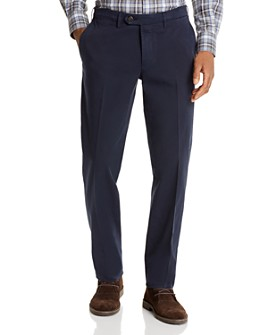 Canali - Cotton Stretch Garment-Washed Regular Fit Chino Pants