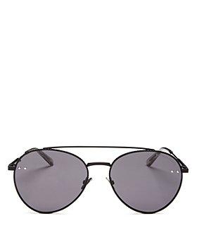 Bottega Veneta - Women's Brow Bar Aviator Sunglasses, 58mm