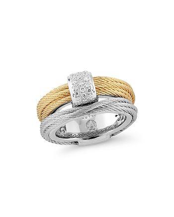 ALOR - Classique Pavé Diamond-Encrusted Cable Ring