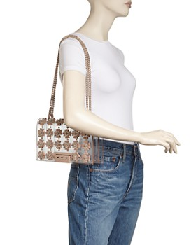 ZAC Zac Posen - Earthette Floral Applique Convertible Shoulder Bag