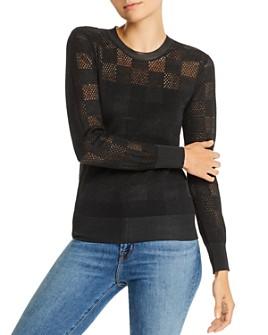 rag & bone - Charlotte Mixed-Knit Checkered Sweater