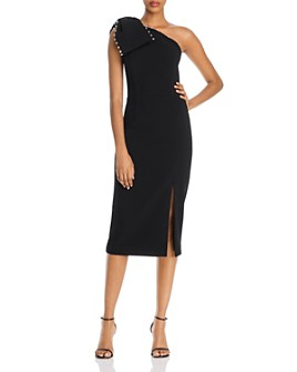 Rebecca Vallance - Pipi Bow & Pearls Midi Dress