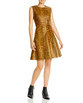 Notes du Nord - Mercy Snake-Embossed Leather Dress